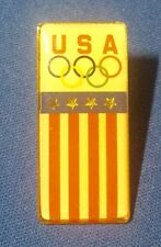 Vintage USA OLYMPIC Lapel Hat Pin ~ Stars & Stripes