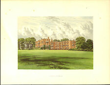 A Charming ANTIQUE print of TEMPLE NEWSHAM Country House Near Leeds Yorkshire
