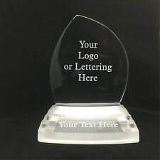Personalised Engraved Glass Iceberg Style Award - Team Player Business Trophy