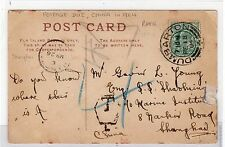 SCOT - DUNBARTONSHIRE: 1904 Underpaid picture postcard sent to Shanghai (C23657)