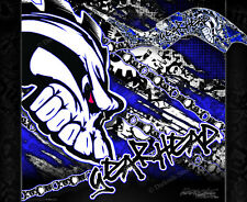 "YAMAHA RAPTOR 660 GRAPHICS KIT ""GEAR HEAD"" DECALS WRAP SET"