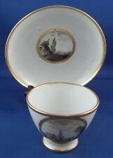 Antique 18thC Locre La Courtille Cup & Saucer Porcelain Porzellan Tasse French