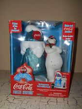 COCA COLA White Polar Bear Freeze Station Slushie Maker Crushed Ice