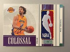 2010 National Treasures Logoman Pau Gasol Auto #1/1 Game-Used Lakers Logoman