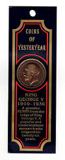 King George V 1920 Bronze One Penny Coin with History on the back  (New)