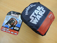 "Pocketkite Star Wars Frameless Kite KYLO REN 21"" Wide Nylon in Carrying Pouch"