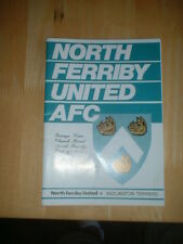 1996/7 NORTH FERRIBY V BEDLINGTON TERRIERS - FA CUP