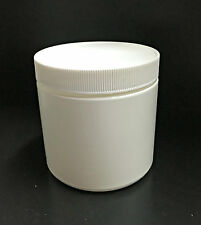 Small White Plastic Canister/Container with Lid