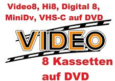 8 x Digital8, VHS-C, Video 8, Hi8, MiniDV auf DVD digitalisieren Kopieren film