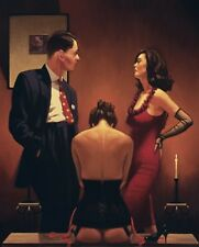 Jack Vettriano - Scarlet Ribbons - Limited Edition Print - Signed 72x58cm