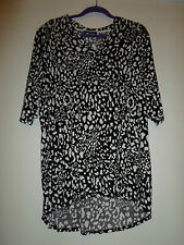size 14 16 leopard animal print tunic long top