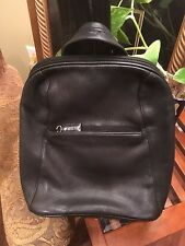 Tignanello Black Leather Hobo Tote Backpack