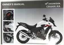 Manual de Usuario Owner's Manual Honda CB500X/XA 00X32-MGZ-C000