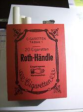 ������  Roth Händle - alte große Werbeaufsteller - HOLZ - RAR - mit Feuerzeug