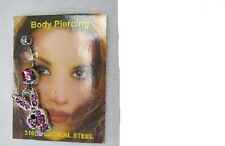 Playboy Crystal Bunny Body Piercing Cute Belly Ring 316 Surgical Steel