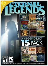 SECRET DIARIES + THE REVENGE Hidden Object ETERNAL LEGENDS 15 PACK PC Game NEW