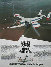 9/1980 PUB BELL HELICOPTER TEXTRON TILTROTOR XV-15 NASA ARMY ORIGINAL AD