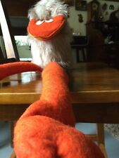 "1975 The Puppet Factory BIRD?  22 1/2"" Plush Vintage Hairy Toy Palo Alto"
