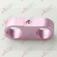 AN -6 (AN6) 13.5MM Braided Hose PINK SEPARATOR CLAMP Fitting Adapter (Fuel Oil)