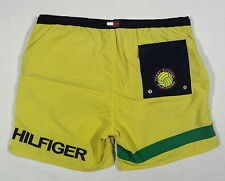 VTG 90S TOMMY HILFIGER VOLLEYBALL SWIM TRUNKS OG SHORTS SPORT LOTUS RACE POLO