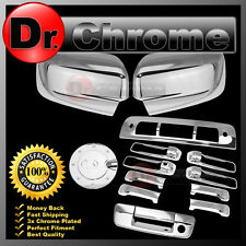 09-15 Dodge Ram Chrome Mirror+4 Door Handle+Tailgate+KH+Gas+3rd Brake Trim Cover