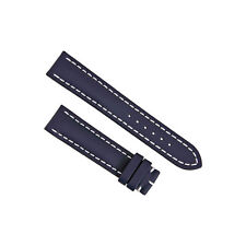Breitling Blue Leather 20 mm - 18 mm Strap 113X