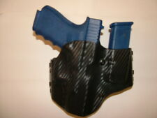 HOLSTER WITH EXTRA MAG BLACK CARBON KYDEX GLOCK 17/22/31