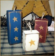 PRIMITIVE AMERICANA BLOCK SIGN~~FIREWORKS~~STARS~~4TH OF JULY~~