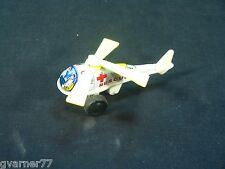 Vintage Tin Litho Wind Up Rescue Helicopter Spins Propellers Nice Shape