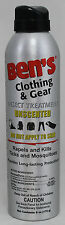 BEN'S CLOTHING & GEAR INSECT TREATMENT UNSCENTED 0.50% PERMETHRIN 6 OZ. CAN
