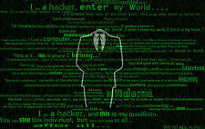 Framed Print - Anonymous Computer Hacking Art (Picture Poster Faction Legion)