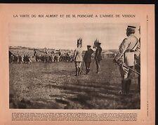 WWI Albert I de Belgique Poincaré Général de Castelnau Verdun 1917 ILLUSTRATION