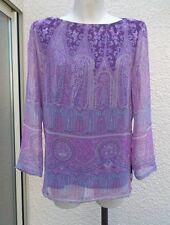 Tunique Doublée Manches Longues Voilage  Violet Rose Violet BS Best Sélection 40
