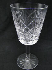 "Waterford Cut Glass ""Clare"" Water Goblet Glasses 7"" Clear Crystal"