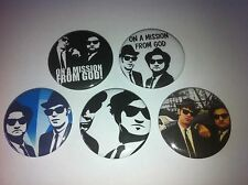 5 The Blues Brothers Button pin badges 25mm John Landis Jake Elwood Cult 80s
