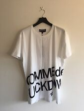 COMME DES FUCKDOWN EXPANDED BODY PRINT TEE SHIRT WHITE SIZE XL