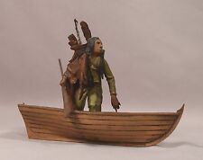 Rare Antique Signed Bergman Vienna Bronze Indian & Boat