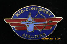 MID CONTINENT AIRLINES LAPEL HAT PIN TIE TAC PILOT CREW WING GIFT WOW