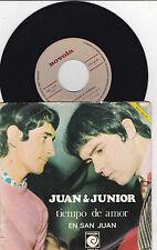 """JUAN Y JUNIOR LOS BRINCOS - Tiempo de Amor - 7"""" SINGLE 45 FREAKBEAT"""