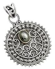Hematite Gemstone Pendant Solid 925 Sterling Silver Jewelry IP27891