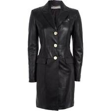 Versace Collection Lamb Leather padded Coat UK8 IT40 US4 RRP2000GBP