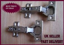 2x 35mm CABINET HINGES 110 DEGREE SLIDE Kitchen Unit Door Cupboard FREE POSTAGE