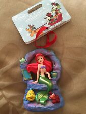 Disney Sketchbook Ariel Little Mermaid Singing Decoration Christmas Ornament