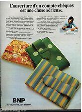 Publicité Advertising 1972 La Banque BNP