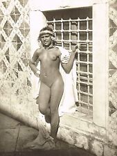 1950's Vintage Female Nude Arab Berber Girl Lehnert Landrock Photo Gravure Print
