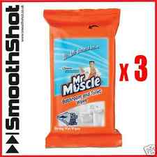 150 X MR MUSCLE BATHROOM FLOOR ANTI-BACTERIAL CLEANING SURFACE STRONG WET WIPES