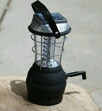 Lithium ion battery solar lantern with 36 LED lights usb port and hand crank