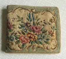 Vintage Petit Point AUSTRIA Wallet, Bill Fold, Coin Purse - Roses Floral Micro