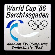 Berchtesgaden Germany Bid for 1992 Winter Olympics World Cup 1986 Pin Badge