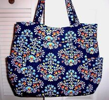 Vera Bradley Large Pleated Tote Shoulder Bag Carry On Chandelier Floral NWT
